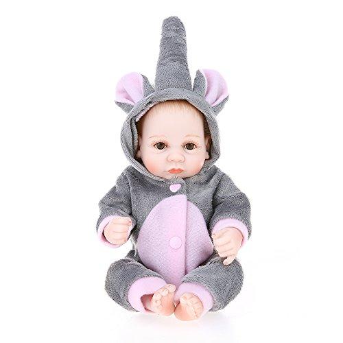 de91440c7 Decdeal - Reborn Muñeco Bebé Niño de Silicona con Ropa, 10 Pulgadas ...