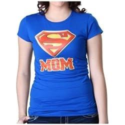 Womens Superman Super Mom T-Shirt Small