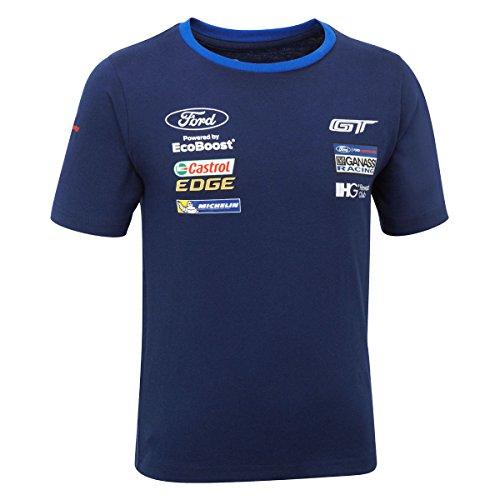 Ford Motorsport Kinder Jungen Team T-Shirt WEC Ford GT GANASSI (Racing Team, marineblau (Ford-kinder-t-shirt)