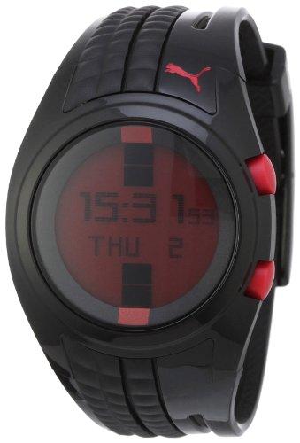Puma Time - A.PU910482004 - Montre Femme - Quartz - Digitale - Chronographe - Alarme - Temps intermédiaires - Eclairage - Bracelet Résine Noire
