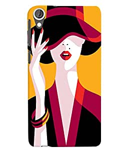 Citydreamz Girl With a Hat/Beautiful/Girly Hard Polycarbonate Designer Back Case Cover For HTC Desire 820/820S/820Q/820G Plus