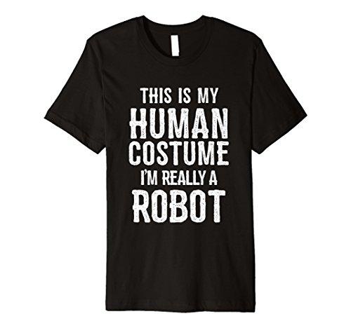 Funny Roboter Kostüm Halloween Shirt für Männer Frauen -