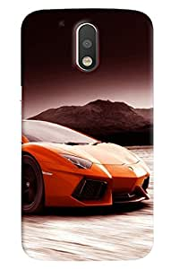 Clarks Lamborgini Hard Plastic Printed Back Cover/Case For Motorola Moto G4
