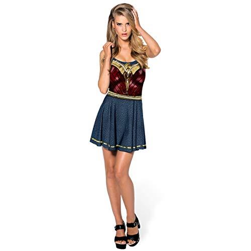 QQWE Wonder Woman Cosplay Kostüm Justice League Superheld Kostüm Kleidung Weihnachten Halloween Show Kleid,A-M (Wonder Woman Justice Kostüm League)