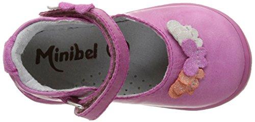 Minibel Karine, Chaussures Premiers pas bébé fille Rose (83 Fushia Metal)