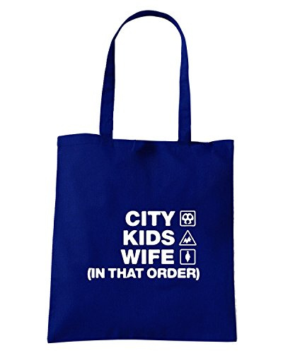 T-Shirtshock - Borsa Shopping WC1089 leicester-city-kids-wife-order-tshirt design Blu Navy
