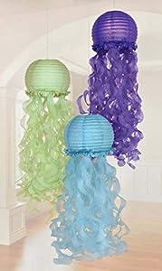 Amscan International Amscan 242193 - Farolillos decorativos, 3 unidades, diseño de sirenas