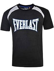T-shirt EVERLAST pour Homme Gris Chiné Blanc et Bleu