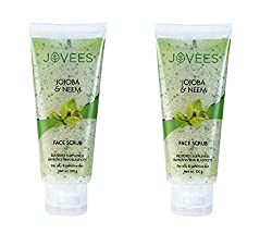 Jovees Jojoba & Wheat Germ Face Scrub 100 G (Pack of 2)