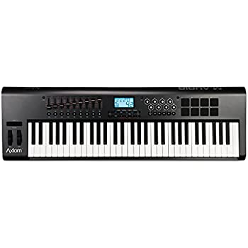 m audio axiom 61 61 key usb midi keyboard controller with semi weighted keys and assignable. Black Bedroom Furniture Sets. Home Design Ideas