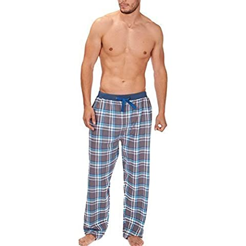 Uomo Tessuto Pantaloni Da Casa pantaloni Pigiami Pigiameria A quadretti Flanella Pigiama PJS S-XL