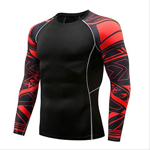 Männer Komprimiert 3D Blume Arm Langarm Fitness Körper Männer Crossfit T-Shirt Strumpfhosen Marke Clothin XXXL -
