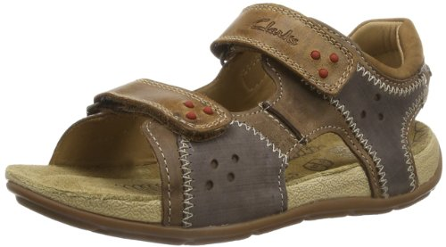 b6930de6357c Clarks 91203535237 Boy S Air Junitor Brown Leather Sandals And Floaters 9  Uk- Price in India