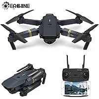 Drone Plegable con HD Camara, EACHINE E58 2.0mp 720p Drone Gran Angular Drone Wifi Fpv App