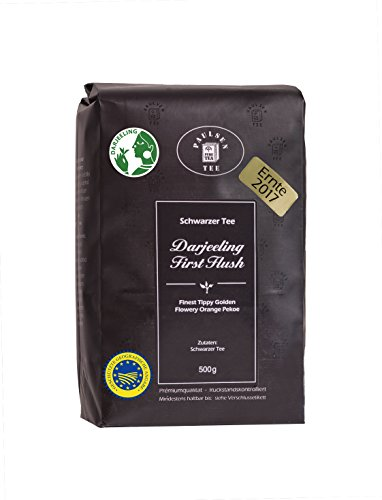 Paulsen Tee Schwarzer Tee Darjeeling First Flush, Ernte 2017, 500g