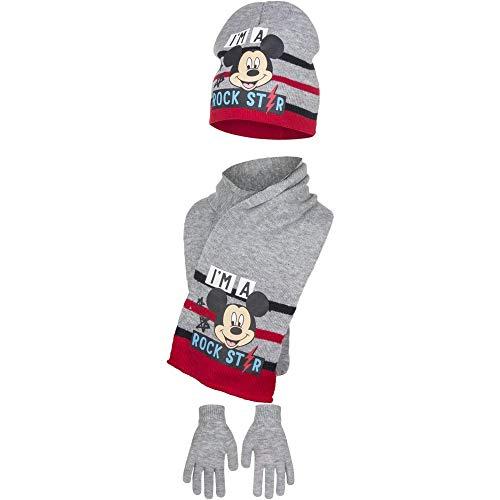 Disney Mickey Mouse Kinder/Jungen Rockstar Winterset (54cm) (Grau)