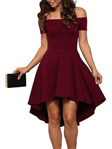 Cfanny Damen Kleid Gr. Small, burgunderfarben
