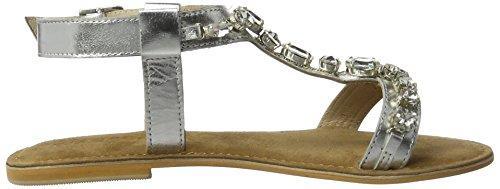 BIANCO - Diamanten Sandale Für Den Alltag, Infradito Donna Argento (Silver)