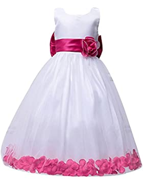 Las Niñas Sin Mangas Niños Vestido Princesa Vestido Vestido Niña De Las Flores Boda Rose para 9-10 años