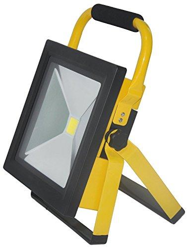 SAILUN 50W Ultraslim LED Fluter Arbeitsleuchte Mit Akku Warmweiß Gelb Dünn Baustrahler Handlampen Flutlicht Tragbar Wiederaufladbare IP65 (50W Warmweiß) -