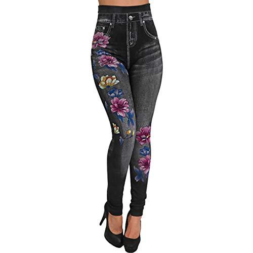373ea67950 MEIbax Leggings Deportes Pantalones para mujeres de Moda Estampado vaqueros  con cintura alta ajustados elásticos de