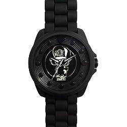 Wize &Ope-BIG - 10-Biggy-Kleintierheim-Armbanduhr Analog Silikon, Schwarz