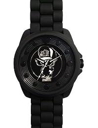 Wize & Ope  0 - Reloj de cuarzo unisex, con correa de silicona, color negro