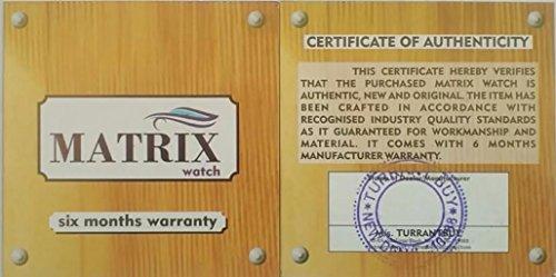 Matrix Analog Black- White Dial, Brown Leather Strap Wrist Watch For Mens & Boys-WCH-248