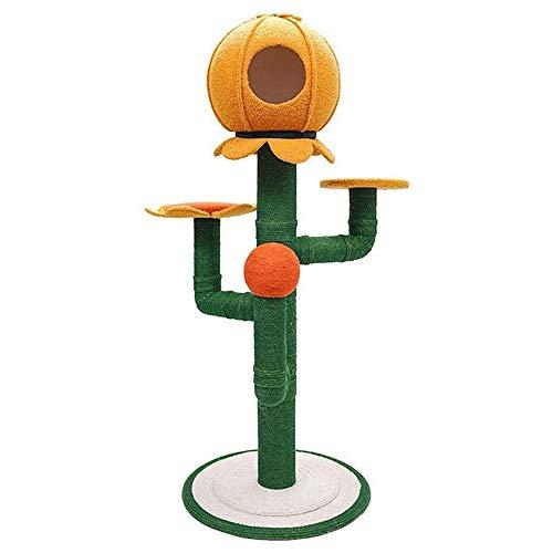Hammer 63' Sun Flower Arbre à Chat Multifonctionnel Cadre Cat Centre Tower Stand Meubles, avec griffoir, Dispositif Anti-basculement, Costume for Les Chatons Chats et Animaux