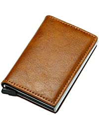 5ca968929 Suvimuga Cartera Para Hombre RFID Bloqueo De Tarjeta De Crédito Con Clip De  Dinero