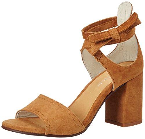 Marc O'Polo 70214021303302 High Heel Sandal, Sandales  Bout ouvert femme Marron (Cognac)