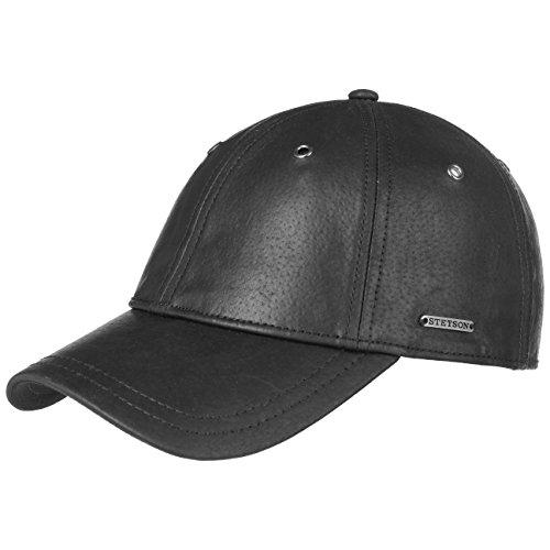 Joes Leder Basecap Stetson Nappaledercaps Lederkappe (One Size - schwarz) (Damen Schwarze Leder-baseball-cap)