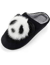Uworth Peluche Pantoufle Panda Chaussons Adulte Femmes Homme Hiver EU Taille  36-44 2d31f7183455