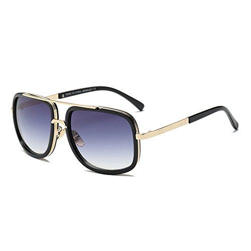 Amcool Full Frame New Polarized Sonnenbrillen Retro Square Damen Herrenbrillen 100% UV406 Schutz Fahren Airplane Golf Party und Casual - Ultra Light Frame