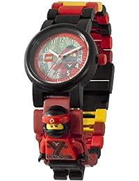 LEGO Ninjago Movie 8021117 Orologio da polso componibile per bambini con cinturino a maglie e minifigure Kai| per i bambini | rosso/nero| ragazzo/ragazza | Diametro di 28 cm | Quarzo analogico
