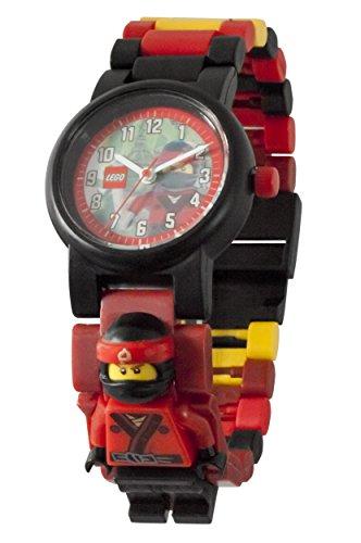 LEGO NINJAGO MOVIE 8021117 Kai Minifigure Link Buildable Watch | red/black | plastic | 28mm case diameter | analogue quartz | boy girl | official