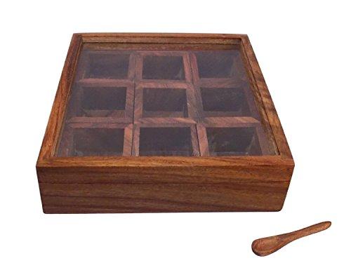 HOLI DHAMAKA SALE Crafts'man Masala Box /Dabba/lock Spice Rack Container, Hand Crafted Spice Bo...