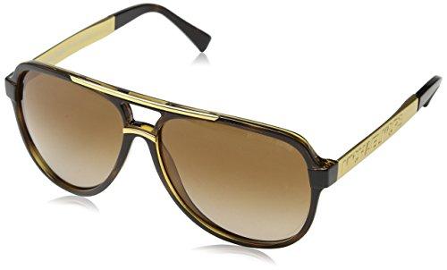 Michael kors mk6025 clementine ii, occhiali da sole unisex-adulto, marrone (havana 310613), unica (taglia produttore: one size)