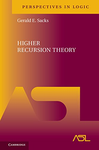 Higher Recursion Theory (Perspectives in Logic)