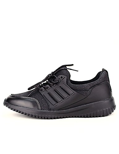 Cendriyon Basket Noire Paillettes Run It Chaussures Femme Noir