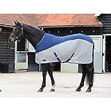 Weatherbeeta - Coperta leggera Micro-air per cavalli (5 ft 6-167 cm) (Blu/Grigio)