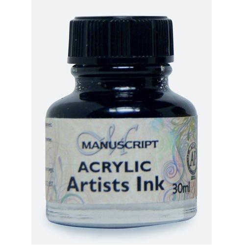Manuscript Acrylic Artists Ink 30ml-Indian Black