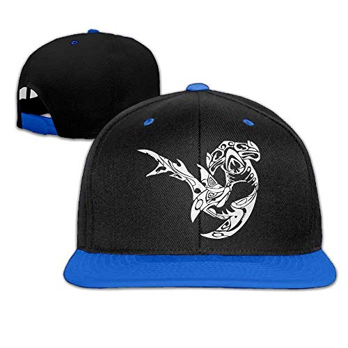 WPLON Personality Caps Hats Hammerhead Shark-1 Hip Hop Baseball Cap Snapback Hats Solid Flat Bill Trucker Hat Unisex (5colors,Adjustable)