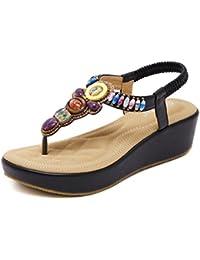 Clip-eólica nacional pendiente con sandalias Bohemia bordada artesanal zapatos ciudad balnearia de Roma los estudiantes...