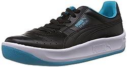 Puma Mens GV Special Black and Scuba Blue Leather Boat Shoes - 7 UK/India (40.5 EU)