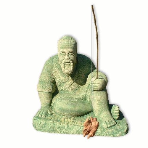 Wilai Steinfigur Großer Angler