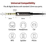 iVanky Aux Kabel, 3,5mm Audio Kabel, 1,2 M/2-Pack (Kupferhülse/Hi-Fi Sound), Klinkenkabel klinkenstecker kompatibel mit Kopfhörer Beats Bose, Echo dot, Smartphones, MP3 Player und mehr - Schwarz - 4
