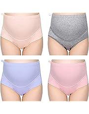 Fashiol Present Cotton Maternity Underwear Pack of 2 | High Waist Pregnancy Underwear Women | Maternity Panties Over Bump(Assorted Colour)