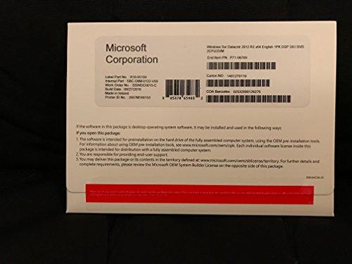 Preisvergleich Produktbild Systembuilder Windows Server Datacenter 2012 x64 Deutsch 1pk DVD 2 CPU / ACHTUNG: keine CAL enthalten!