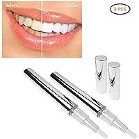 Blanqueamiento de Dientes Mallalah 2PCS Lápiz blanqueante para dientes de Teeth Lápiz Blanqueador Dental Dientes de Limpieza Profunda